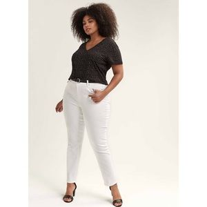 🆕 Additionelle Women's White Ankle Jeans 28 Plus